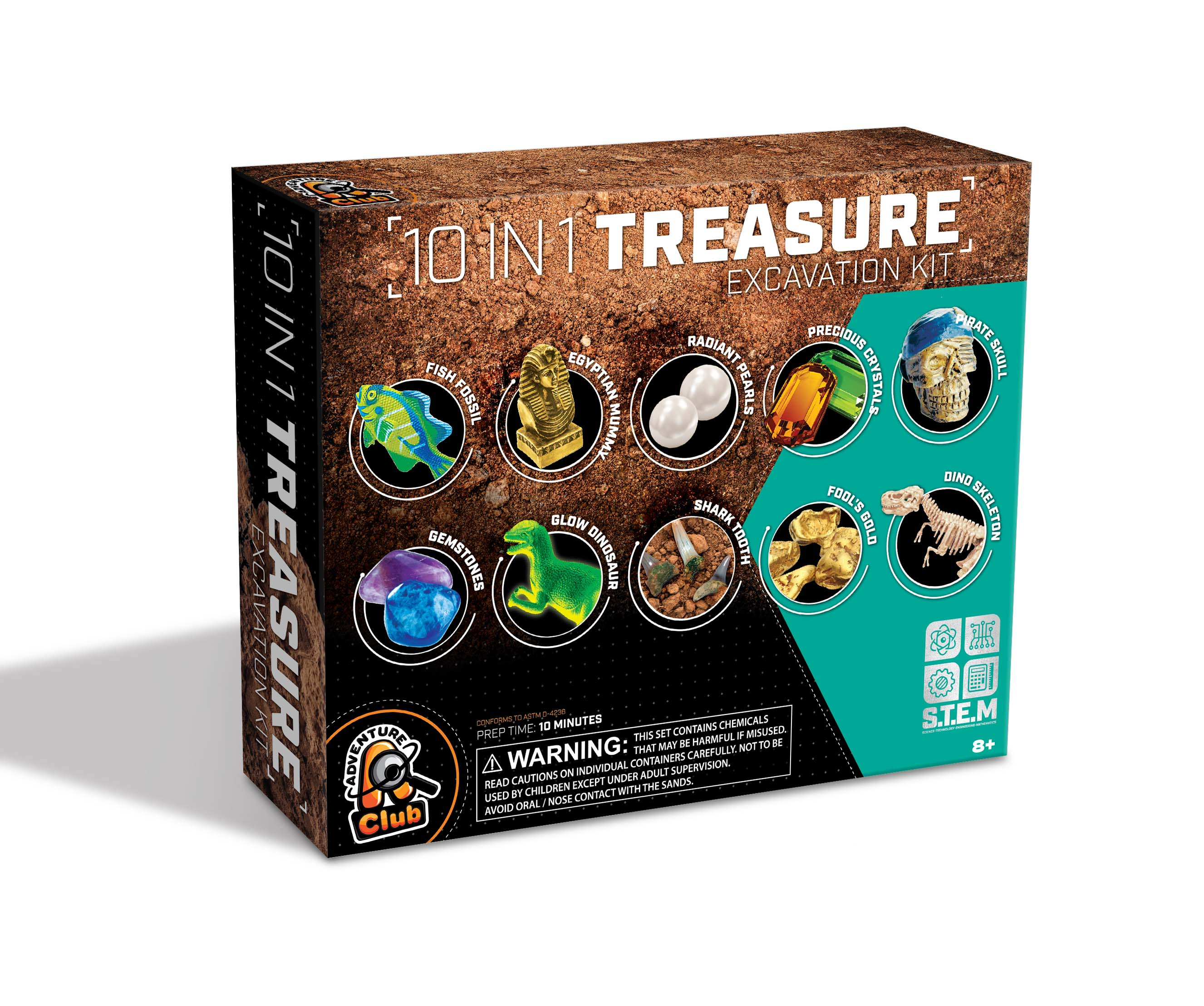 10 IN 1 TREASURE EXCAVATION BLOCKS